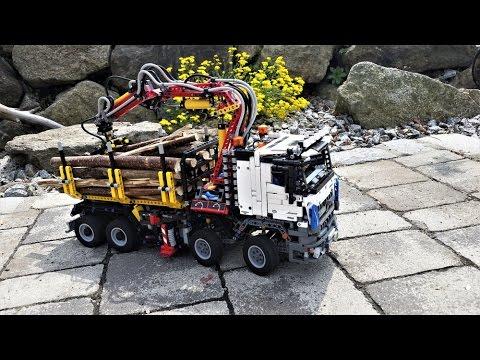lego technic holztransporter 42043 german youtube. Black Bedroom Furniture Sets. Home Design Ideas