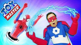 Человек Паук и Той Мастер в новом видео – Супергерой в Портале Джокера! – Игры для мальчиков онлайн.