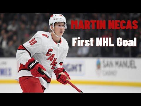 Martin Necas #88 (Carolina Hurricanes) first NHL goal 16/10/2018