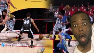 stephen curry crossover 3 vs best dunk of the year nba 2k16 myteam gameplay rage warrior fan