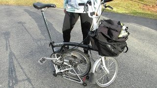 Using a Brompton Bicycle as a Shopping Cart #cb99videos  #brompton #shoppingcart