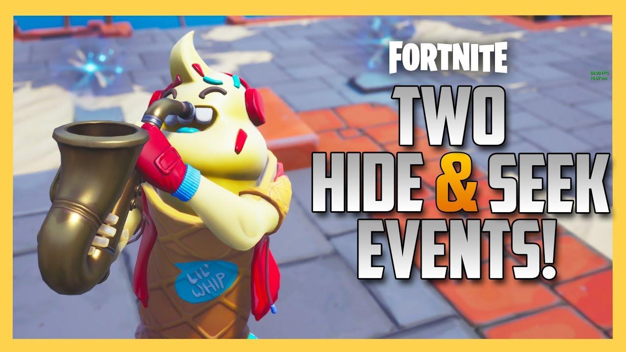 TWO Hide & Seek Events + 175,000 V-Bucks in Prizes!!! INSANE