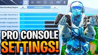 BEST CONSOLE SETTINGS in Fortnite! PRO PLAYER SETTINGS on CONTROLLER PS4/XBOX ONE! (Fortnite Tips)