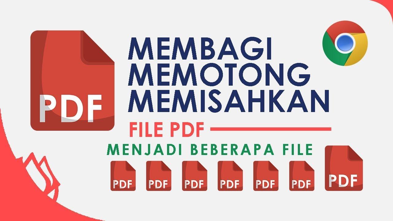 Cara Memisahkan File Pdf Menjadi Beberapa File Youtube