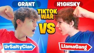 TikTok CLAN UrSalty Vs. Llama Gang Fortnite WAR! ft. *Grant and Faze H1ghSky*