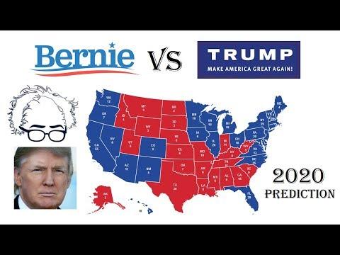 bernie sanders  donald trump  electoral map prediction projecting   election