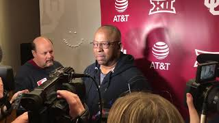 OU Football - Ruffin McNeill on defensive play