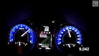 Toyota Camry 2.5 (v50) Acceleration 0-100 km/h  (Racelogic)