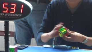 Mats Valk's 6.61s Slow & Zoomed Rubik's Cube solve at Dutch Open 2013 in Voorburg