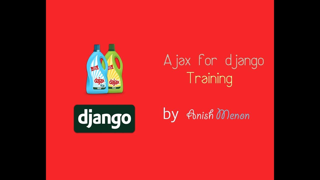 How to implement Ajax in Django - using Dajax - YouTube