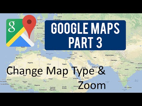Google Maps Tutorial : Part 3 (Change Map Type & Zoom)