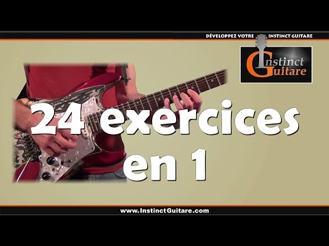 24 exercices techniques en 1 à la guitare