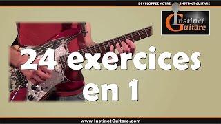 vuclip 24 exercices techniques en 1 à la guitare