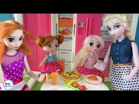 Barbie Elsa Anna Dolls Episodes! Playing Games Skating Accident Cooking & Peppa Pig Ferris Wheel!