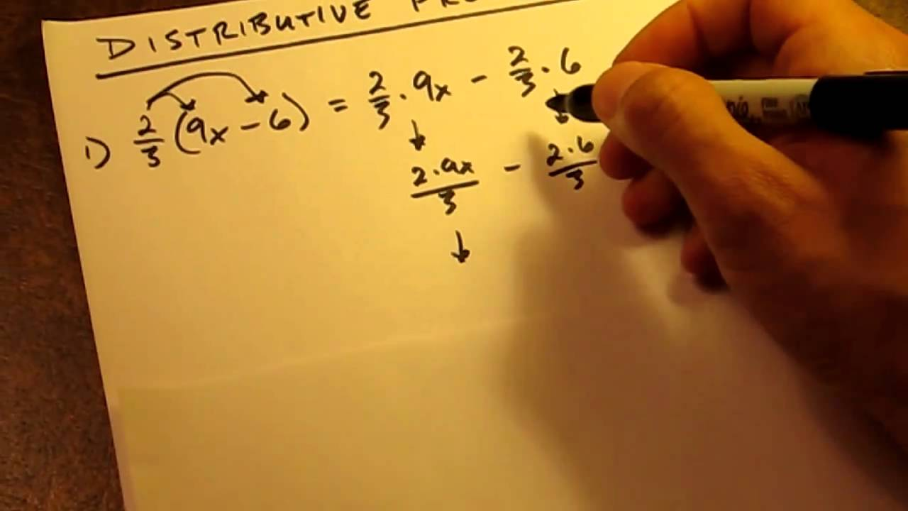 How To - Distributive Property Fractions - YouTube [ 720 x 1280 Pixel ]