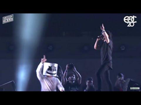 Marshmello Con Skrillex & Martin Garrix - Electric Daisy Carnival (EDC) Las Vegas 2016 xD