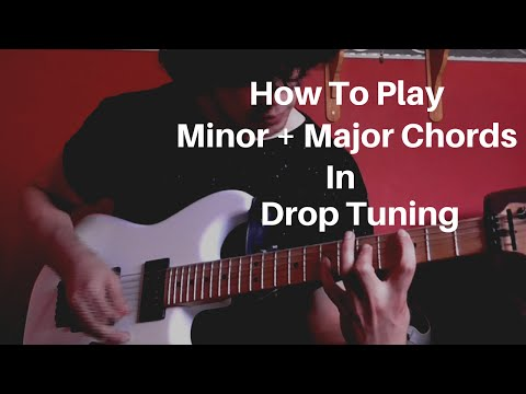 Video - How To Play Minor and Major Chords in Drop D Guitar Lesson