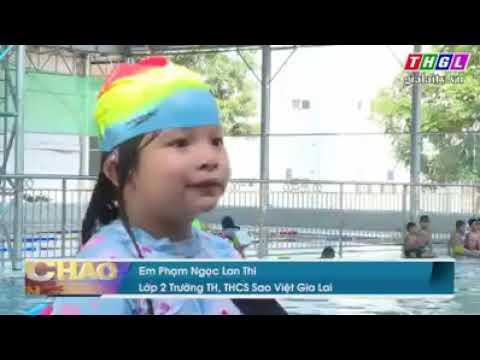 Hoạt động bơi lội ở trường Sao Việt Gia Lai