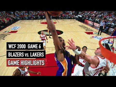 NBA Playoffs 2000. Portland Trail Blazers vs LA Lakers ...