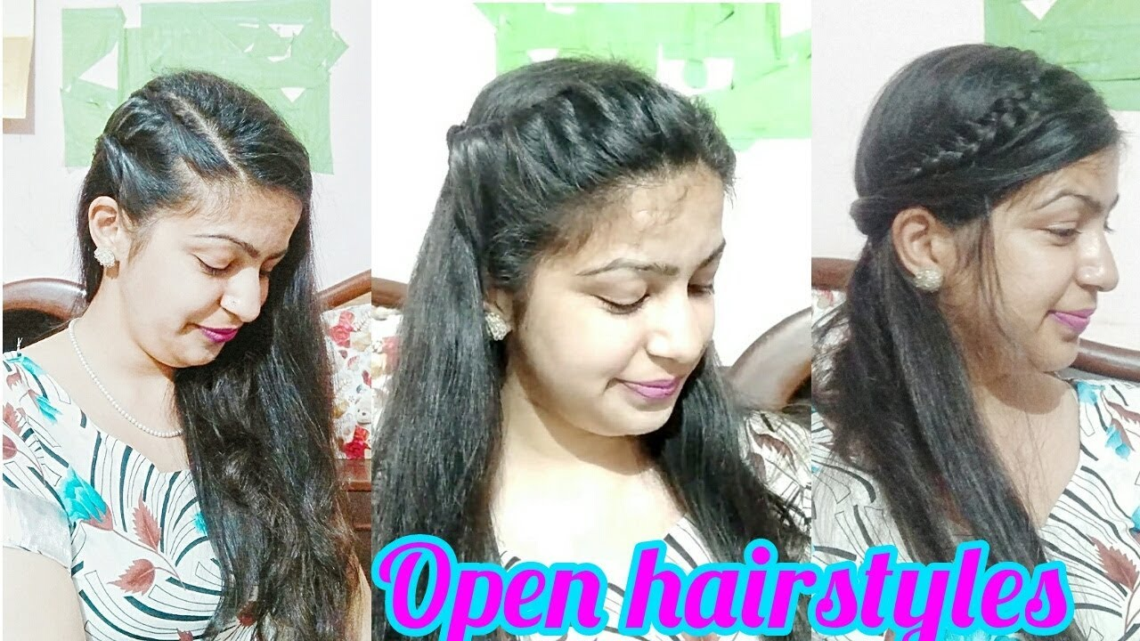 Open Hair Hairstyles In Hindi Hairstyles In Open Hair For Party