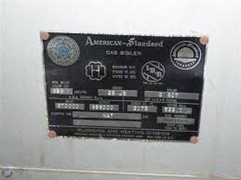 American Standard Boiler High Co In Flue Youtube