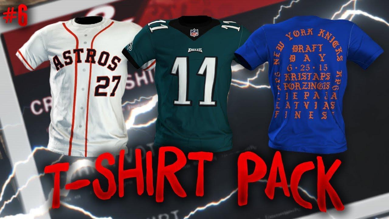 online store 4273a 2b625 NBA 2K18 MyPARK T-Shirt Pack 6 (Kristaps Porzingis, Carson Wentz, Jose  Altuve)