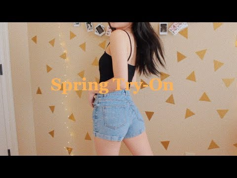 Brandy Melville Spring Try-On Haul 2018...
