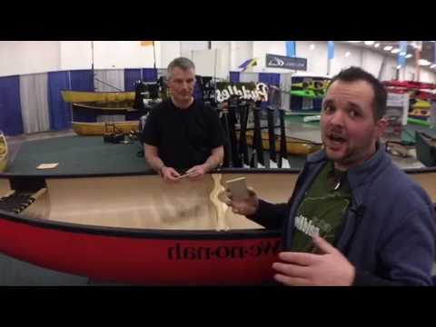 VP of Wenonah Canoes at Canoecopia 2017 (T-Formex)