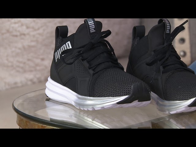 7ab24b5c9c9 PUMA Mesh Mid Lace-up Sneakers - Enzo on QVC Download video - get video  youtube