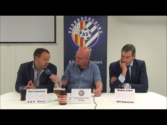 ASV Geel - KSV Oudenaarde  22-9-2018  persbabbel