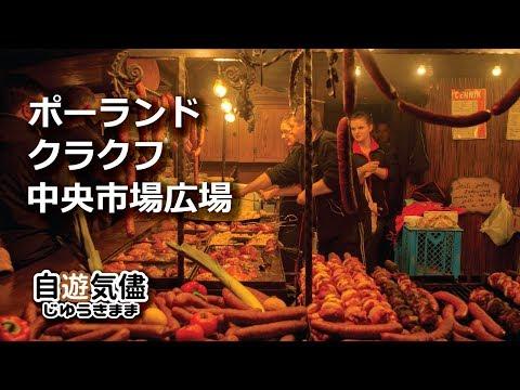 バルト三国一人旅DAY4 PM クラクフ中央市場広場編(字幕)ポーランド・クラクフ