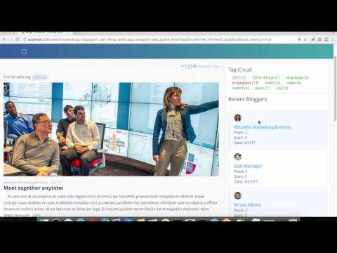 Video 9: Liferay DXP Collaboration And Intranet Use Case Demo.