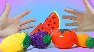 Учим названия Овощей и Ягод с весёлой Песенкой про Пальчики