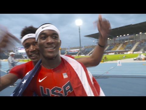 IAAF WU20 2016 Bydgoszcz 400m Final Men Silver Wilbert LONDON III USA