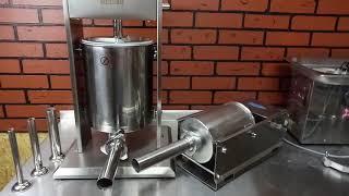 Обзор колбасных шприцев на 3 и 10 литров