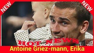 Antoine Griezmann, Erika Choperena et leur bébé premiers fans du champion