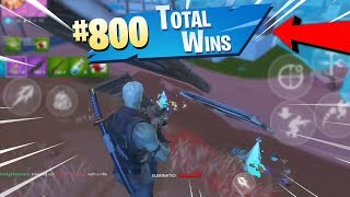 MY 800th WIN ON MOBILE! - Fortnite Mobile Battle Royale Gameplay