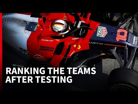Ranking the teams after F1 testing