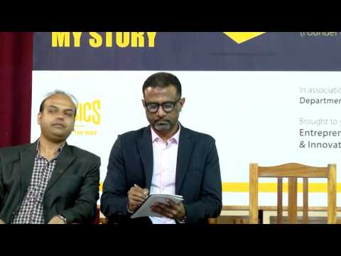 "Session on ""My Life My Story"" with Hanif Sattar, Co Founder, Hasbro Clothing @ Chennai – Aug 2016"
