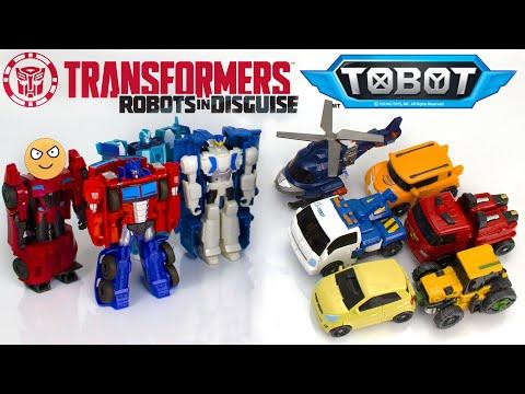 Сборник мультиков -  Роботы Трансформеры против Тоботов.