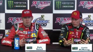 NASCAR at Talladega Superspeedway, May 2017: Kyle Busch, McMurray post race
