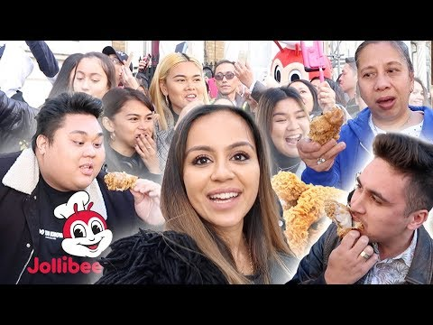 EPIC 18-HOUR QUEUE | WATCH JOLLIBEE'S BIGGEST TASTE TEST IN LONDON | THIS IS CRAZY!