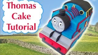Repeat youtube video Thomas Train Birthday Cake HOW TO COOK THAT Ann Reardon 3D fondant