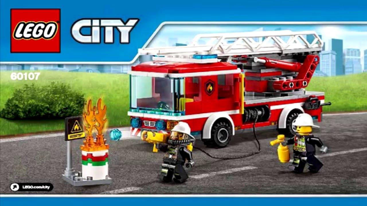 Lego City 60107 Fire Ladder Truck 2016 Instruction
