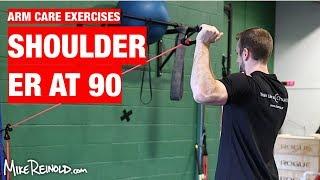 Shoulder Tubing ER at 90 Degrees Exercise - Arm Care Shoulder Program