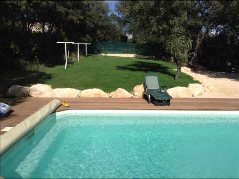Aménagement bord de piscine - YouTube