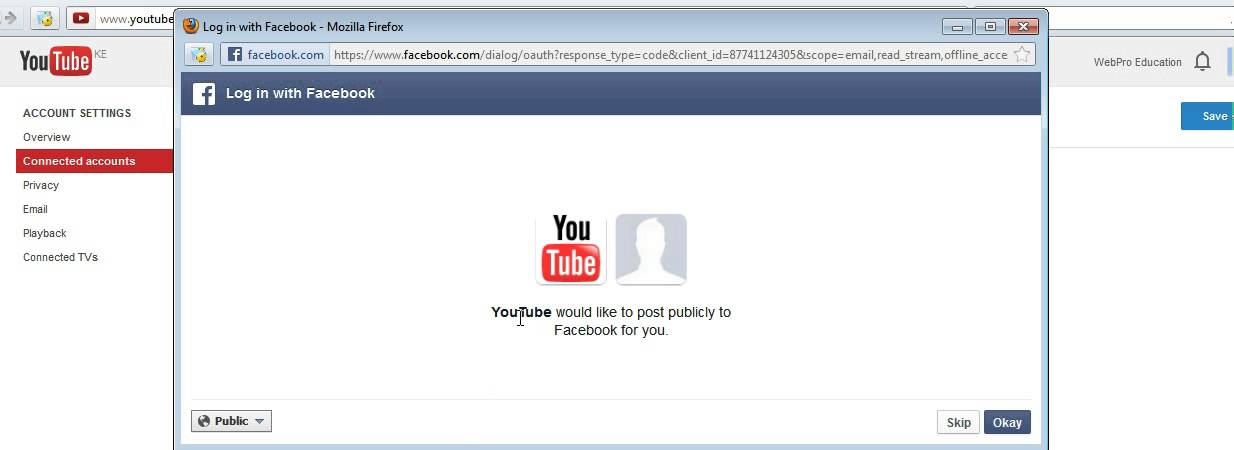 How To Connect Youtube And Facebook Accounts