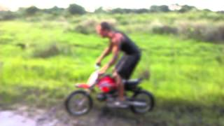 Mudding on 70cc dirt bike