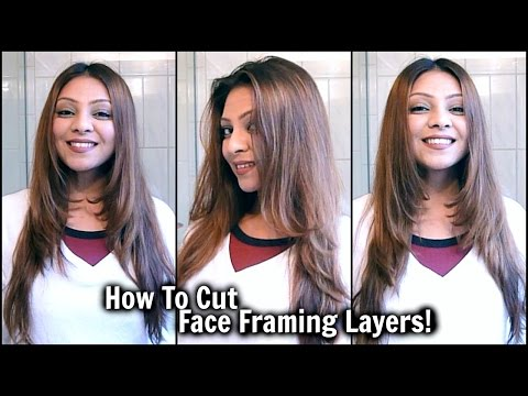 How To Cut Face Framing Layers At Home Diy Long Layered Haircut Cut Your Own Hair Tutori