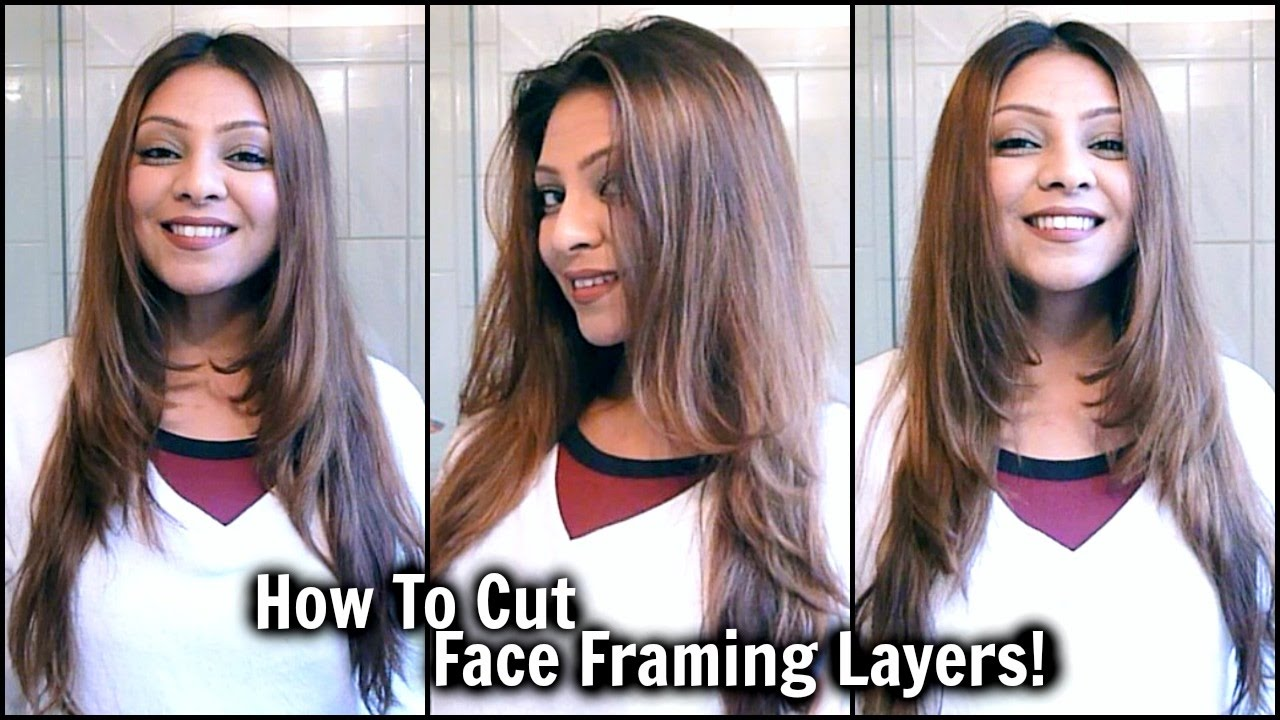 How To Cut Face Framing Layers At Home │ Diy Long Layered